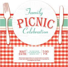picnic or barbecue family fun event invitation design template