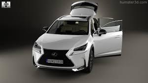 lexus nx f sport black 360 view of lexus nx f sport with hq interior 2014 3d model