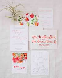 wedding invitations floral gorgeous floral wedding invitations martha stewart weddings