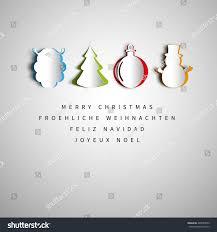merry christmas holiday greeting design set stock vector 489055099