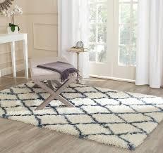 floor ivory shag rug design ideas for contemporary living room