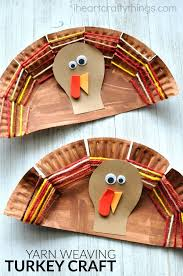 turkey plate craft paper plate yarn weaving turkey craft free coloring pages