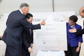 uw tsinghua come together to celebrate groundbreaking for new