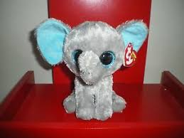 ty beanie boos peanut elephant 6 nwmt sparkly eyes retired