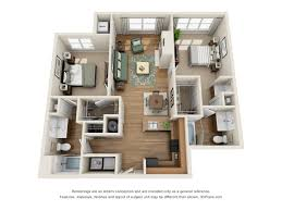 Floor Plan Of An Apartment Landover Md Apartments Century Summerfield Morgan Metro