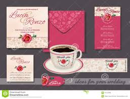 Small Invitation Cards Wedding Invitation With Red Rose And Small Flowers With