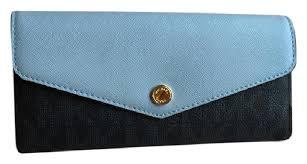 michael kors light blue wallet michael kors blue greenwich signature carryall baltic light sky