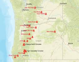 Oregon Wildfire Map by Cliff Mass Weather And Climate Blog Eclipse Weather Forecast