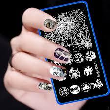 Halloween Nail Art Pumpkin - 2016 new christmas nail art stamp skeleton witch pumpkin spider