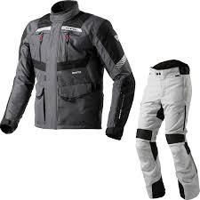 ladies bike jacket rev it neptune gtx motorcycle jacket pants grey silver kit