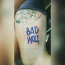 bad wolf tattoo by ladyknight17 on deviantart