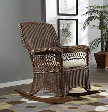 amazon com wicker indoor rocking chair with cushion baby