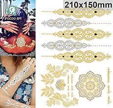 amazon com golden metallic gold body art temporary removable