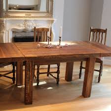 english beam farmhouse extendable reclaimed wood dining table