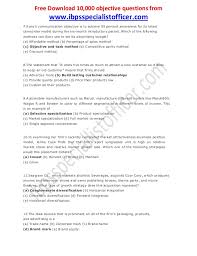 ibps marketing specialist officer previous question paper