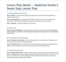 lesson plan template hunter madeline hunter lesson plan template plan bee