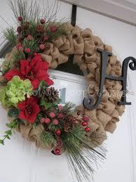 christmas burlap wreaths shabby chic burlap christmas wreath burlap by carolinamooncrafts