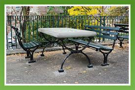 Concrete Table And Benches Concrete Classics New York Style Chess Tables And Park Benches