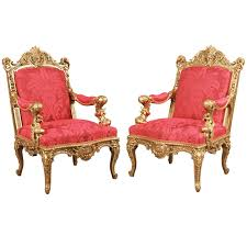 Antique Armchairs A Magnificent Pair Of Antique Armchairs By Alexandre Georges