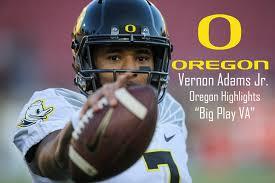 vernon adams jr big play va oregon highlights youtube