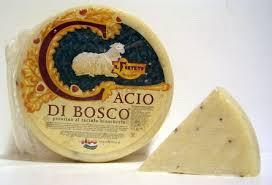 italian truffle cheese cacio di bosco tartufo pecorino italian cheese white black