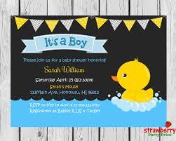 rubber duck baby shower invitation chalkboard rubber ducky invite