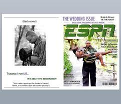 espn magazine wedding program template by bergrens on etsy