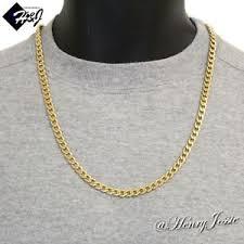 curb link chain necklace images 24 quot men 39 s stainless steel 6mm gold cuban curb link chain necklace jpg