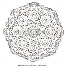 ethnic fractal mandala vector meditation tattoo stock vector