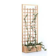 portable planter with trellis