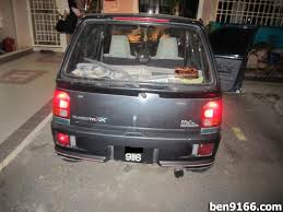 project kancil mira l200s rear lamp installed car enthusiast