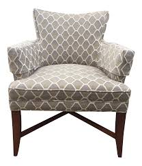 Grey Patterned Accent Chair Pearson Gray U0026 Beige Patterned Accent Chair Chairish