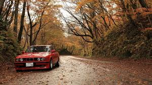 cars bmw red trees forest cars roads red cars alpina foliage bmw 5