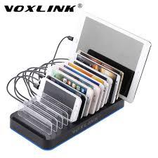 le de bureau usb voxlink 15 ports usb chargeur 75 w avec le support de stand noir