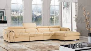 yellow faux leather sectional