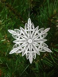 paper quilled frozen inspired snowflake ornament