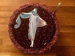 chocadyllic chocolate wedding birthday celebration cake in