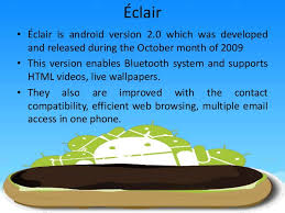 android eclair development in the android versions since 7 years