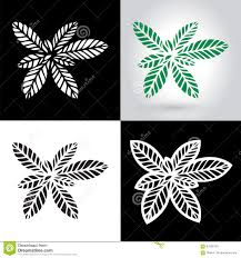 laser cut leaf logo cutout paper leaves icon stock vector image