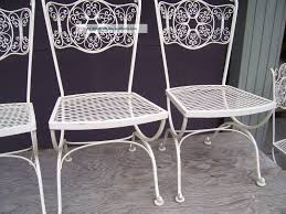 furniture white pair midcentury modern outdoor wrought iron