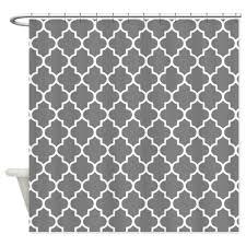 dark grey quatrefoil shower curtain by inspirationzstore