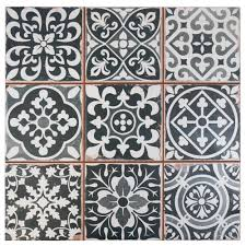 Moroccan Tile Rug Merola Tile Faenza Nero 13 In X 13 In Ceramic Floor And Wall
