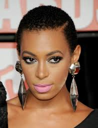 solange knowles short naturally curly hairstyle u2013 fashdea