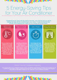 energy saving tips for summer 5 energy saving tips for your air conditioner visual ly
