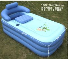Collapsible Bathtub For Adults Deluxe Thickened Pvc Spa Portable Air Bathtub Enjoyable Bath