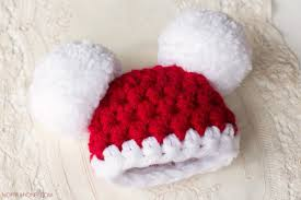 hopeful honey craft crochet create baby santa claus pompom