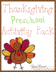 free thanksgiving preschool pack year homeschooling