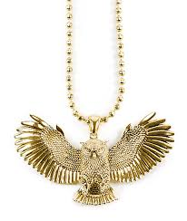 gold owl pendant necklace images King ice gold great horned owl necklace zumiez jpg