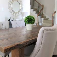 Reclaimed Wood Home Decor Our Dining Room Table We Made From Reclaimed Wood Hometalk