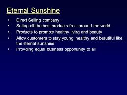 opportunity presentation eternal direct selling company